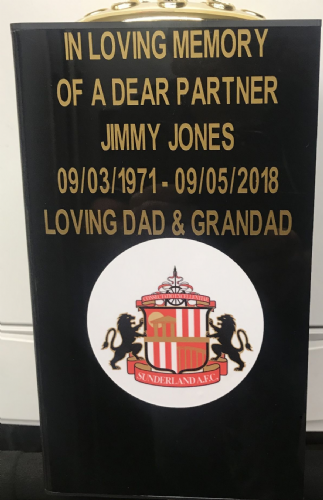 Sunderland  F. C. Square grave flower pot.
